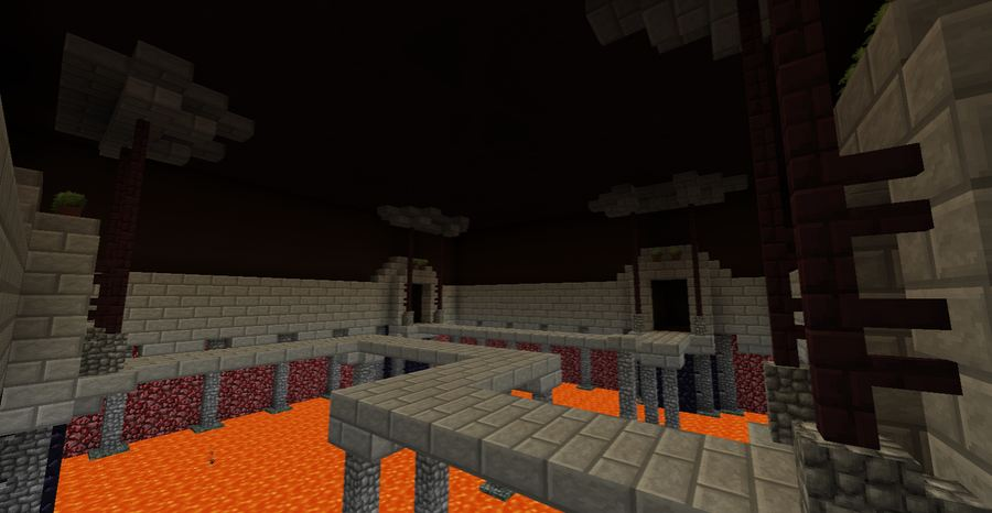 minecraft map pvp the laser game lave