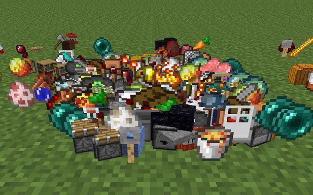Voici un échantillon des items que vous pouvez trouver dans un lucky block.