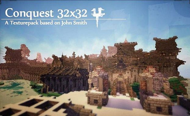 minecraft resource pack 32×32 conquest