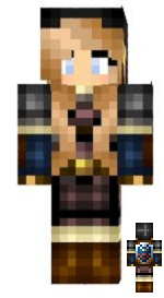 10.Minecraft skin link dark version fille