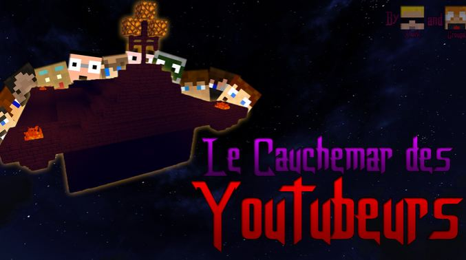 map aventure minecraft cauchemar youtubeur