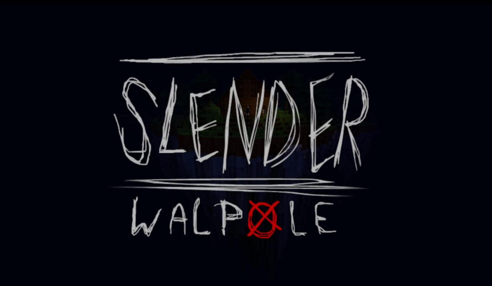 minacraft map slender walpole survival horreur