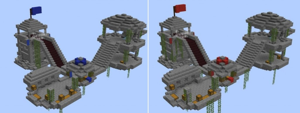 minecraft map pvp island war base equipe