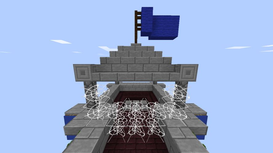 minecraft map pvp island war tour equipe bleu