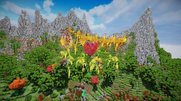 minecraft map aranel l'île perdue structure