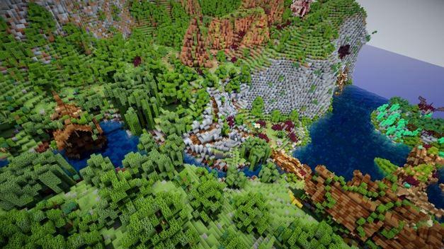 minecraft map aranel l'île perdue vue sur la mer