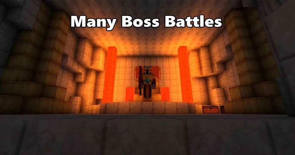 minecraft map aventure The Elder Scrolls boss