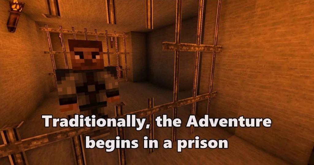minecraft map aventure The Elder Scrolls prison