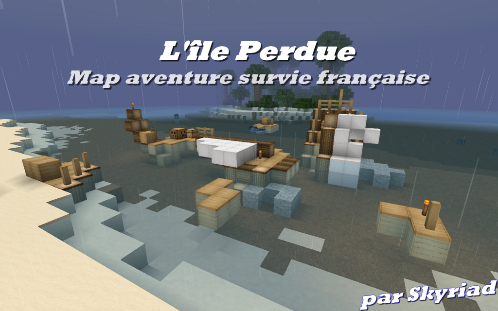 minecraft map aventure survie fr l'ile perdue