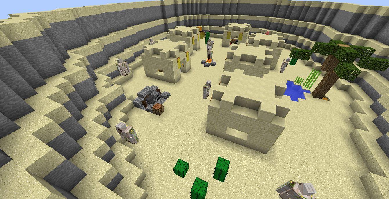 Minecraft map aventure les 1000 lieux desert