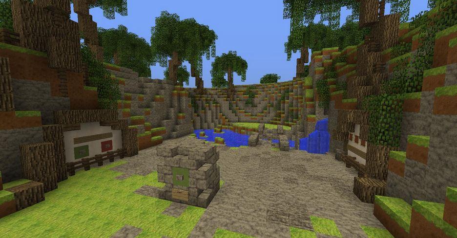 minecraft map mini-jeu gems quest 3 départ