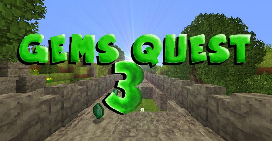 minecraft map mini-jeu gems quest 3
