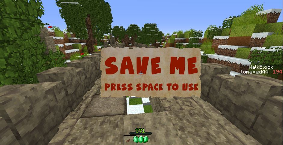 minecraft map mini-jeu gems quest save me