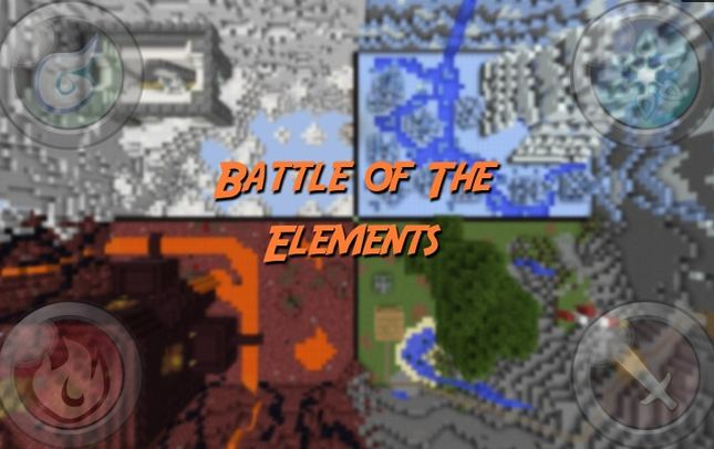 Minecraft map pvp 2-4 joueurs battle of the elements