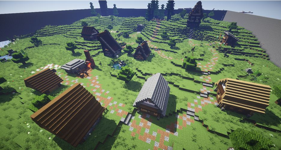 minecraft map aventure village escape le village