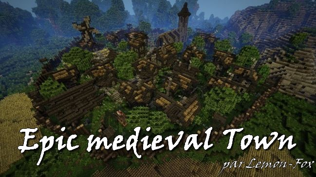 minecraft map epic medieval town
