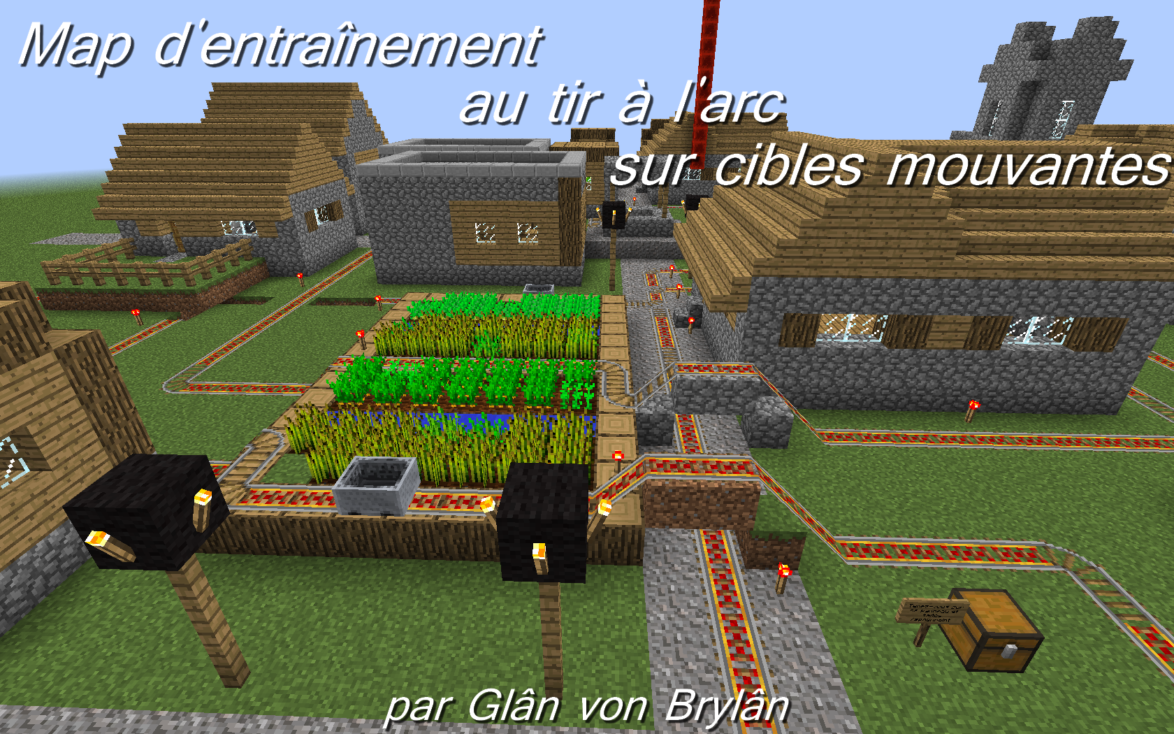 minecraft map entraînement au tir à l'arc