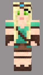 2.minecraft skin princesse guerriere