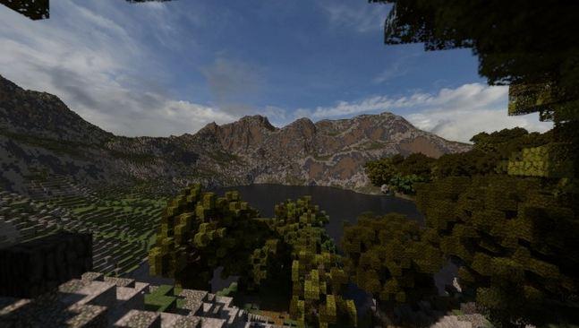 minecraft map survie reach – a world unfolding montagne