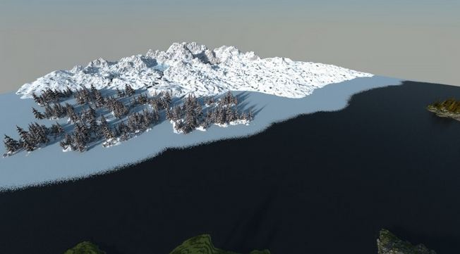 minecraft map survie reach – a world unfolding neige