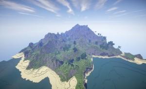 minecraft map customisé eden valley magnifique montagne