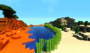 minecraft map pvp chivalcraft champ de bataille, le desert