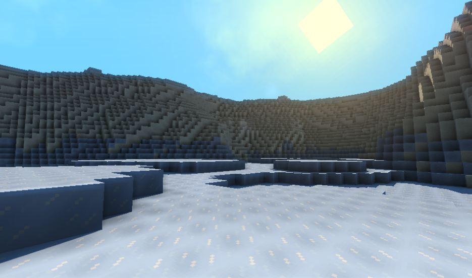 minecraft map pvp chivalcraft champ de bataille, le lac gelé