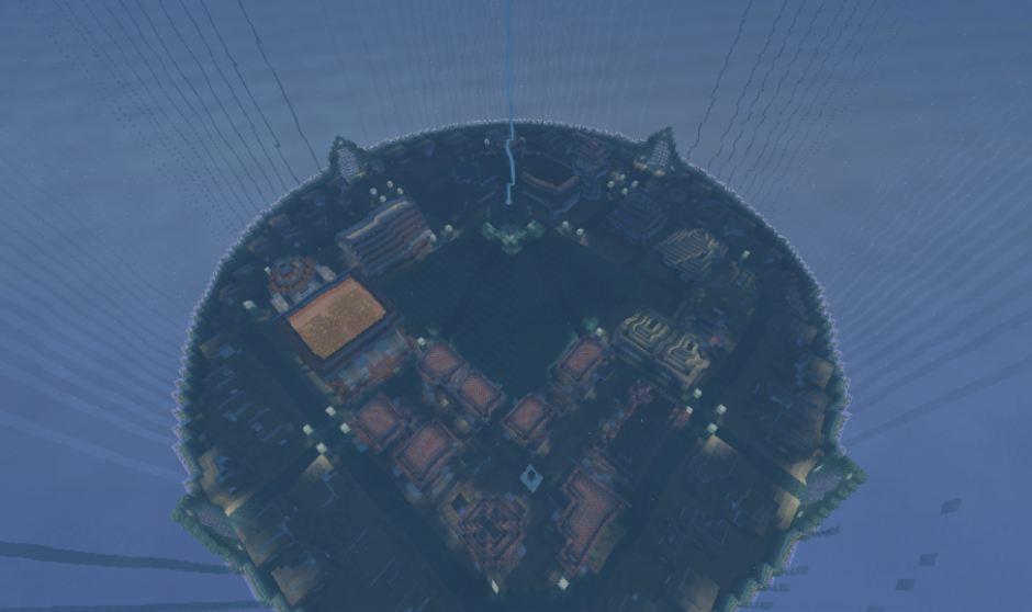 minecraft map pvp chivalcraft champ de bataille, le temple des abîmes