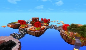 minecraft map pvp chivalcraft champ de bataille, le village champignon