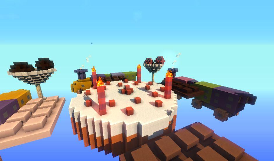 minecraft map pvp chivalcraft champ de bataille, l'ile aux jouets