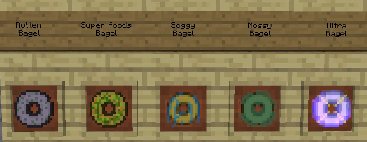 minecraft mod bagel différentes sortes de bagel 1
