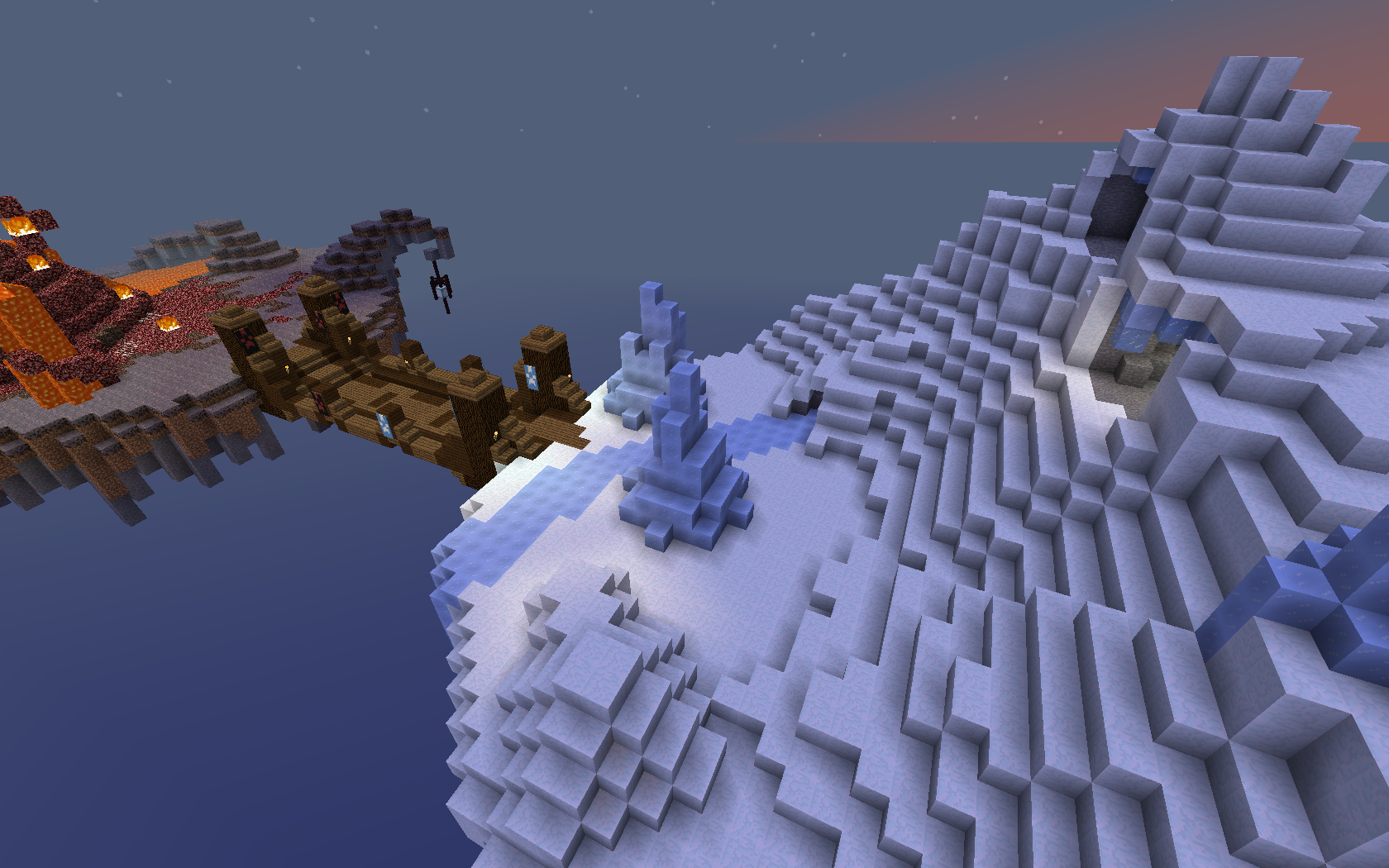 minecraft pvp forever fight biting fire burning cold