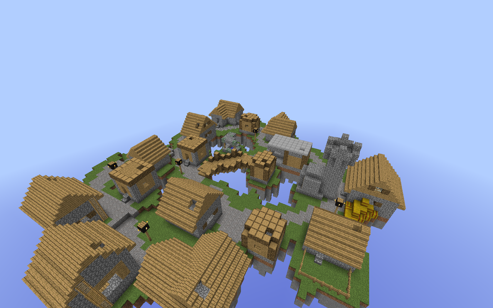 minecraft pvp forever fight well's village 1