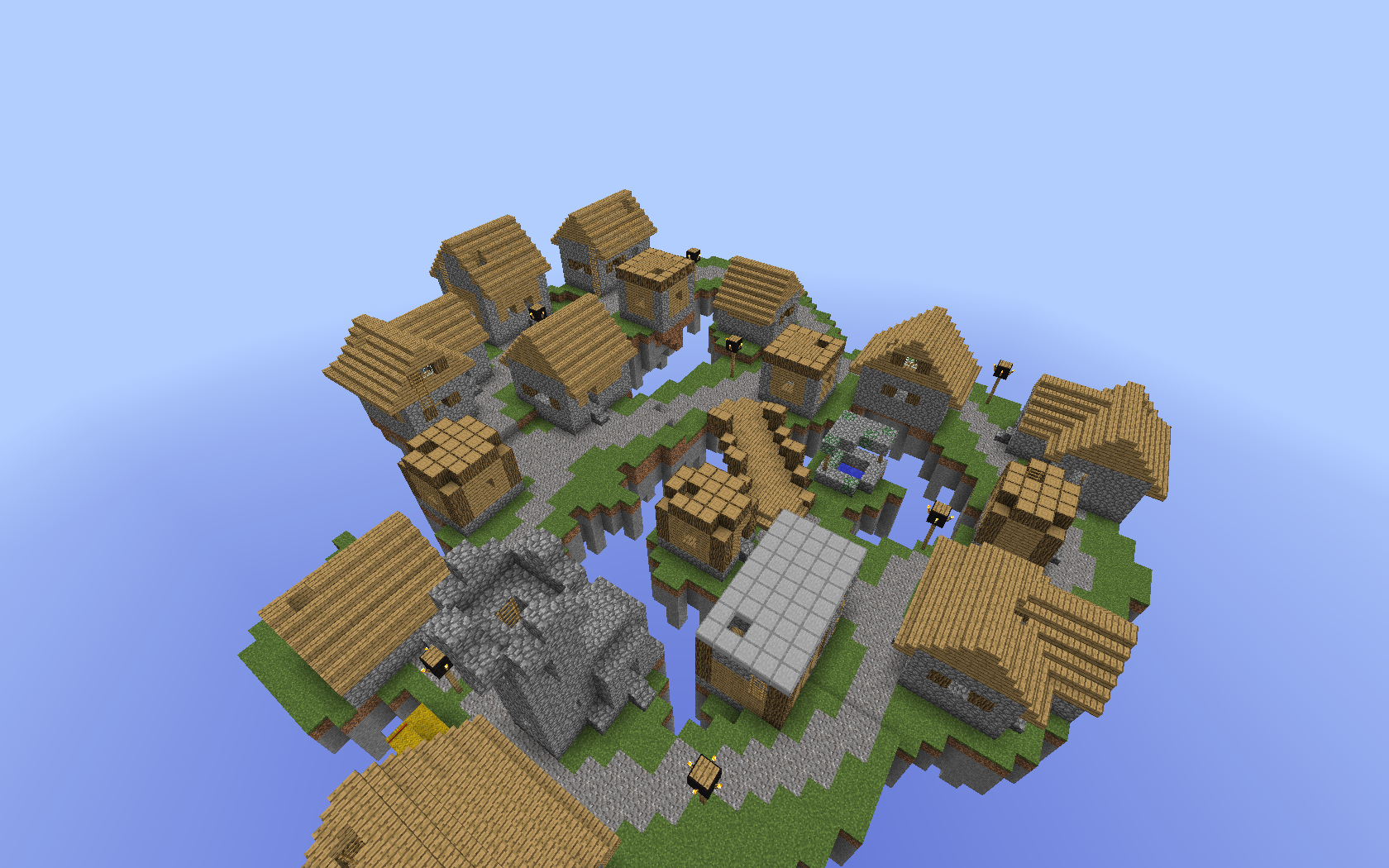 minecraft pvp forever fight well's village 2