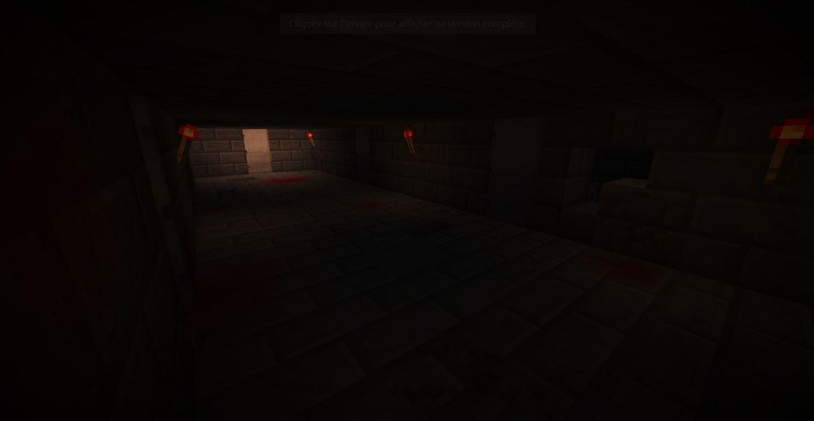 minecraft map aventure horreur wandering couloir sombre