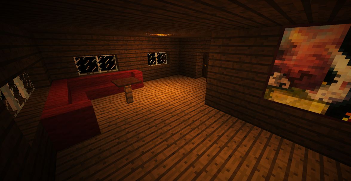 minecraft map aventure horreur wandering salon