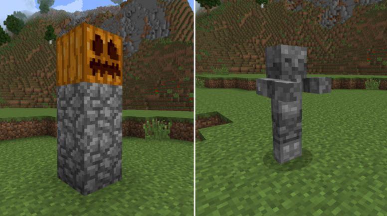 minecraft utility mod golem de pierre