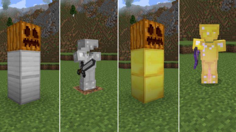 minecraft utility mod golem en or