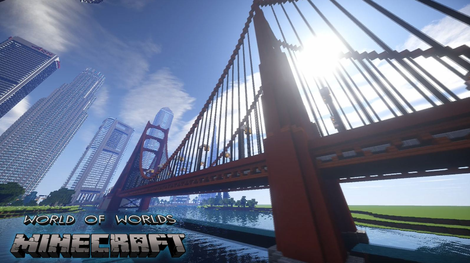 minecraft map monument impressionnant world of worlds pont san francisco