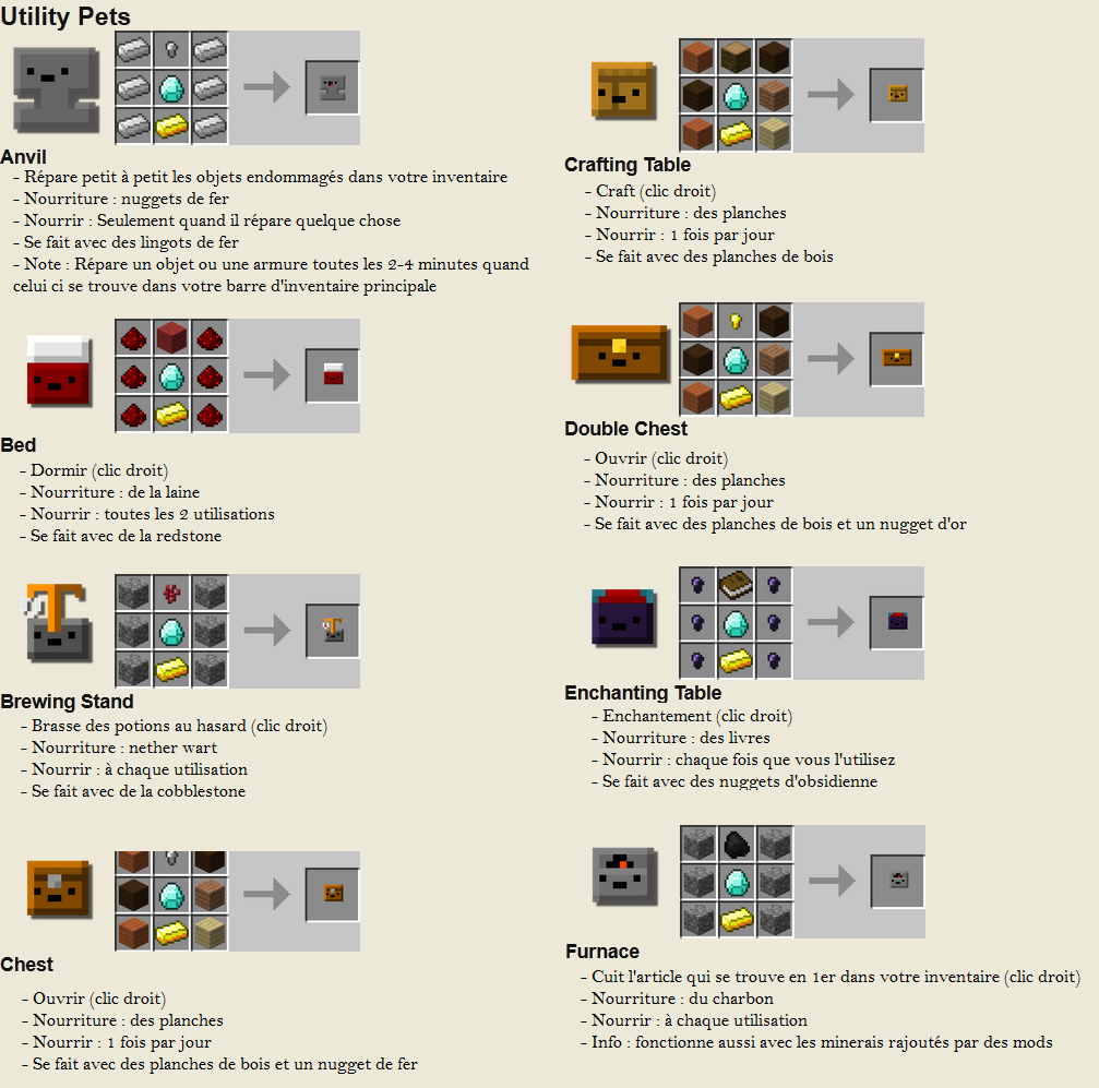 minecraft mod inventory pets utile craft 1