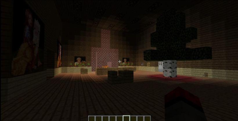 minecraft map aventure saving christmas 1.8 interieur maison