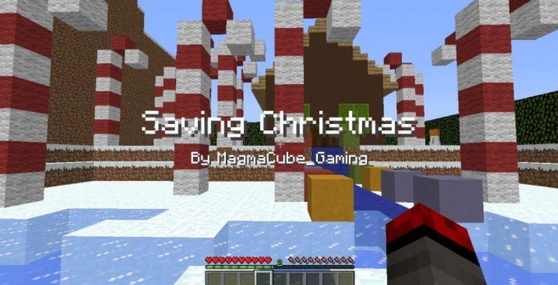 minecraft map aventure saving christmas