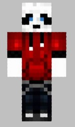 6.skin panda rouge