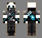 9.skin panda ninja face+dos