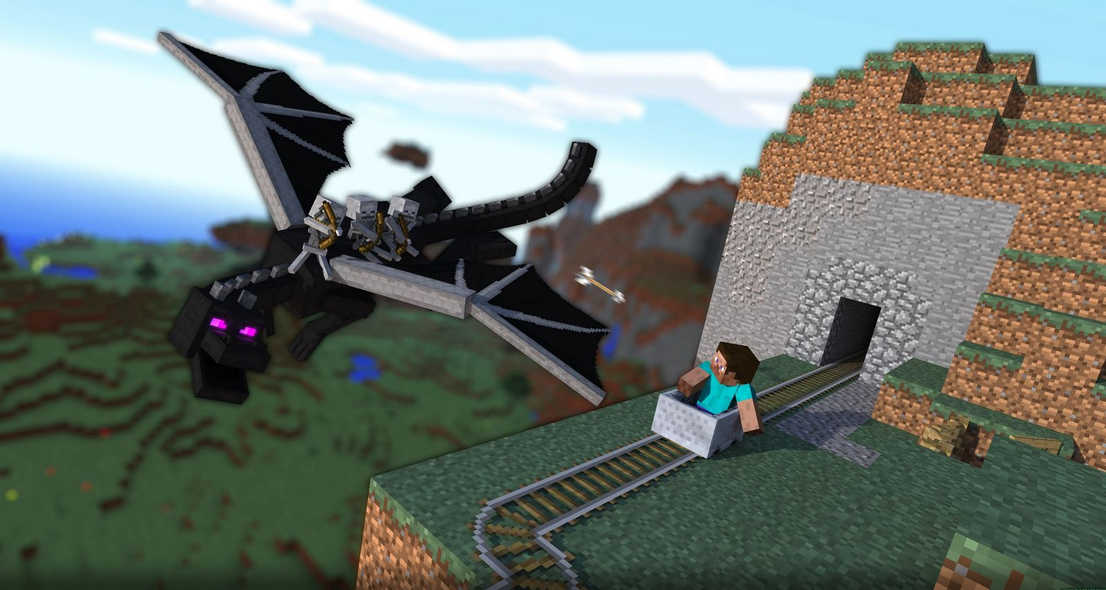 how to get to the enderdragon in minecraft