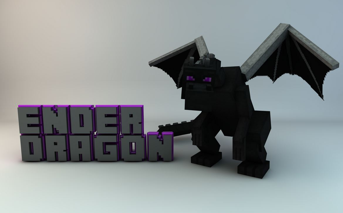 Fond d'ecran minecraft ender dragon simple