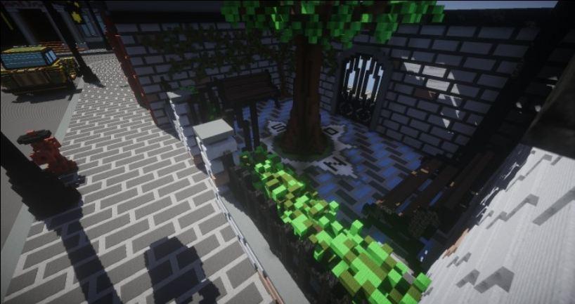map ville lego city minecraft parc