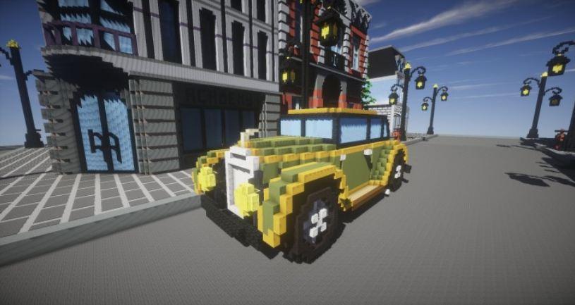 map ville lego city minecraft voiture
