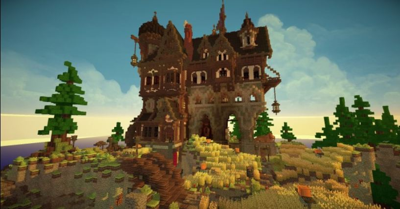 minecraft map maison médievale