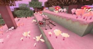 minecraft mod biome candycraft araignée en sucre